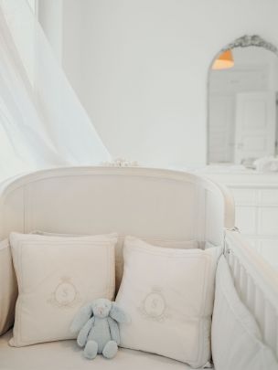 White Linen Pillow Cover