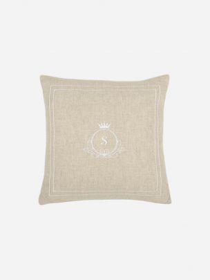 Beige Linen Pillow Cover
