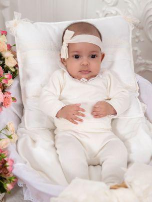 BABY GIRL SET ( SWEAT + PANTS) - KNIT