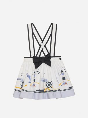 Nautical Print Skirt