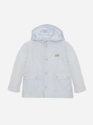 Blue Microfibre Coat
