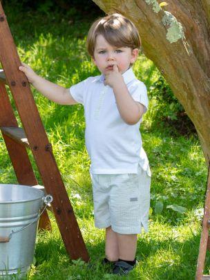 Blue/Green Stripes Shorts
