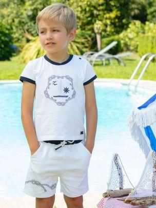 White Interlock Shorts