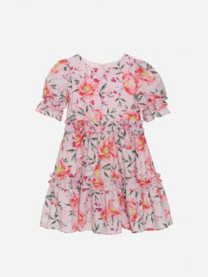 Floral Pink Jersey Dress