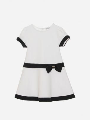 White Interlock Dress