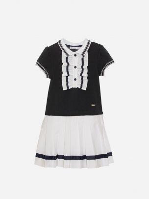 White Piqué Dress