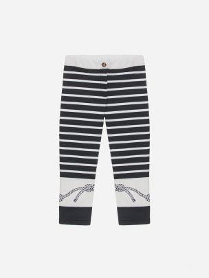 Striped Interlock Legging