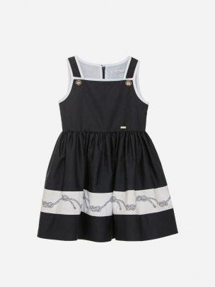 Navy Popeline Dress