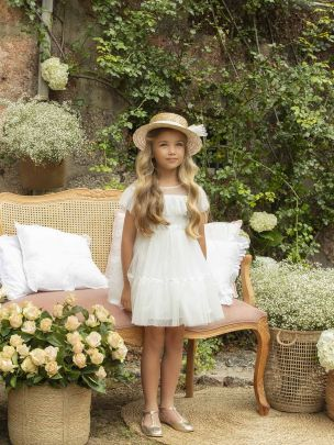 Off White Tulle Dress