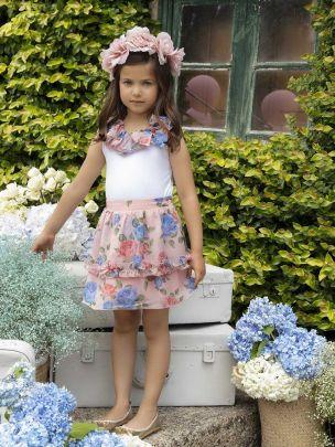 Coral Chiffon Skirt