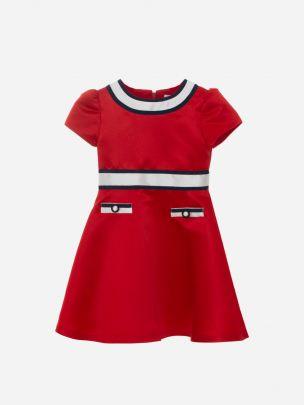 Red Mikado Dress
