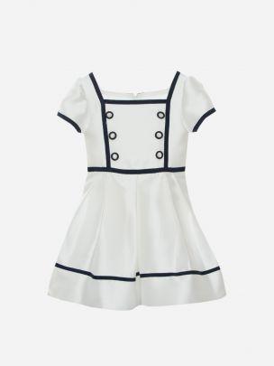 Off White Mikado Dress