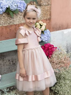 Old Pink Georgette Dress