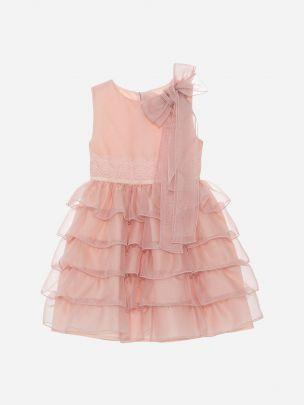 Old Pink Organza Dress