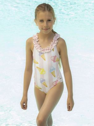 Lycra Printed Swimsuit