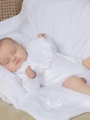 White Knit Bib