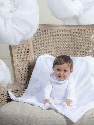 White Knit Blanket
