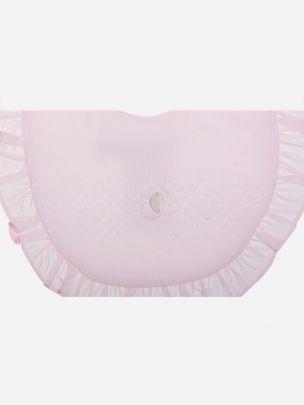 Pink Micro Corduroy Bib