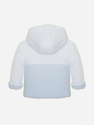 White/ Blue Knit Coat