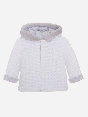 Double Grey Knit Coat