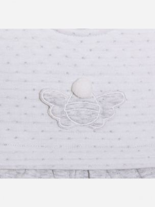 Double Grey Knit Babygrow