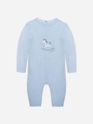 Blue Tricot Babygrow