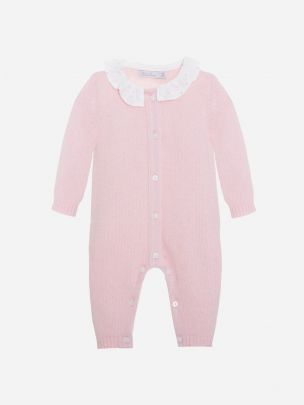 Pink Tricot Babygrow