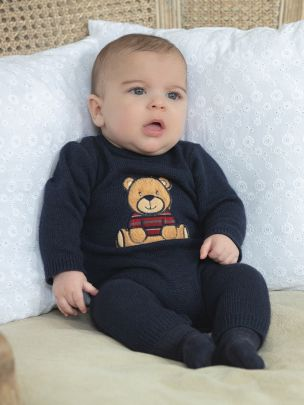 Navy Tricot Babygrow
