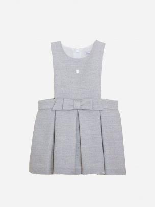 Melange Grey Flannel Skirt