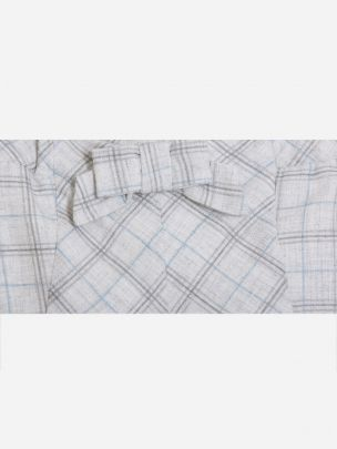 Blue/Grey Check Flannel Shorts
