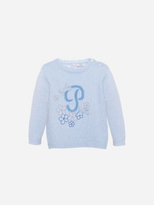 Blue Tricot Sweater