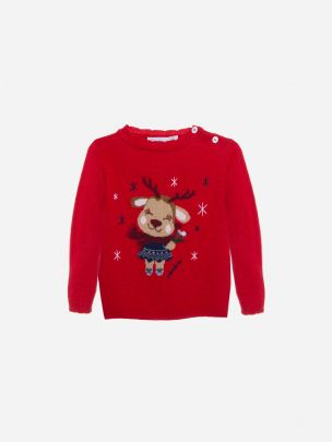 Red Tricot Sweater