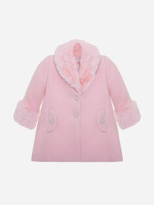 Pale Pink Flannel Coat
