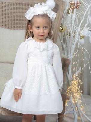 Off White Chiffon Dress