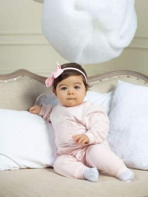 Pale Pink Cotton Fleece Tracksuit