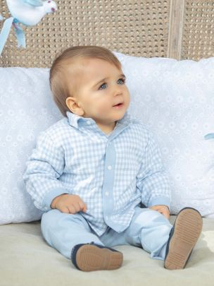 Blue Check Flannel Shirt