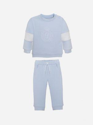 Blue Cotton Fleece Set