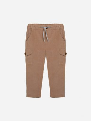 Bege Micro-corduroy Pants