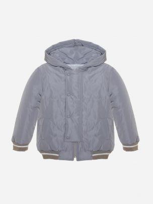 Grey Microfibre Raincoat