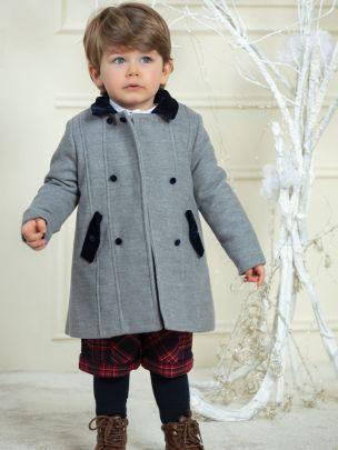 Dark Melange Grey Flannel Coat
