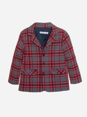 Grey Check Flannel Blazer