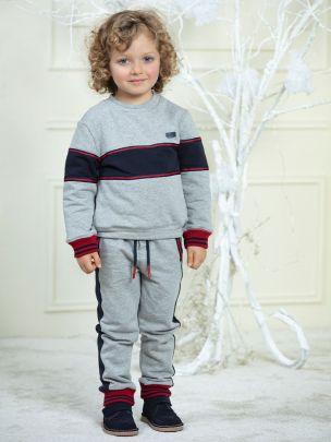 Dark Melange Grey Cotton Fleece Jogging