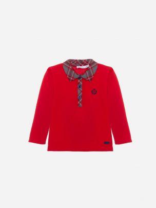 Red Pique Polo