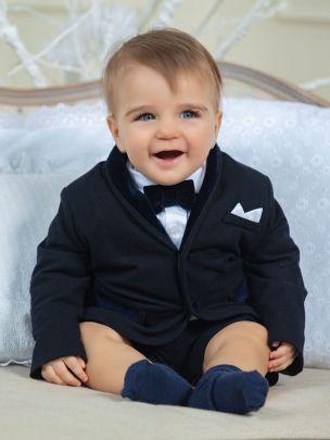 Navy Flannel Blazer