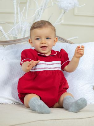 Red Flannel Romper