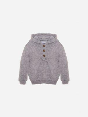 Dark Melange Grey Knit Sweater