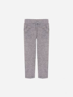 Dark Melange Grey Knit Jogging