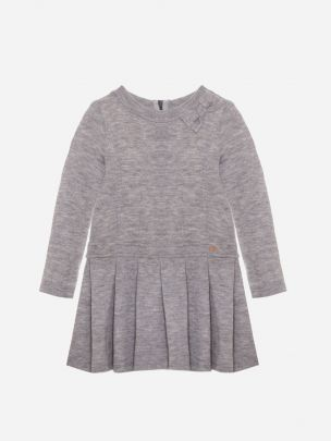 Dark Melange Grey Knit Dress