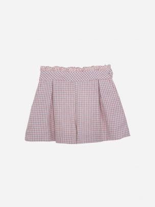 Pink Check Flannel Shorts