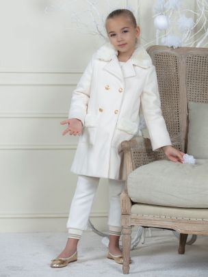Off White Flannel Coat
